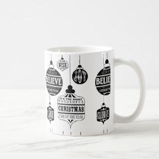 ornamentos modernos del navidad del vintage taza