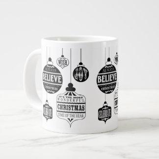 ornamentos modernos del navidad del vintage tazas extra grande