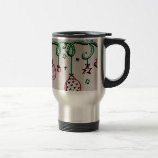 Ornamentos modernos del navidad taza de café