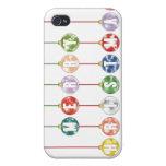 Ornamentos multicolores de la bola de cristal de l iPhone 4 cárcasa