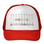Ornamentos multicolores de la bola de cristal de l gorras de camionero