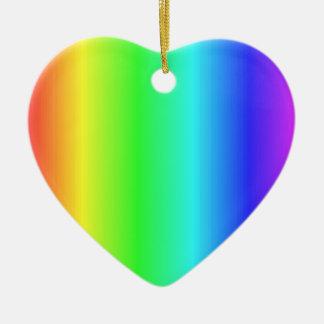 Ornamentos muy bonitos del >Heart del arco iris Ornamento Para Arbol De Navidad
