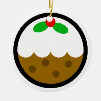 """Ornamentos """"Navidad-Pudín """" de Navidad de Andy Adorno Navideño Redondo De Cerámica"""
