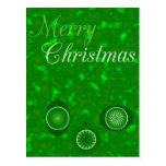 Ornamentos para el diseño del navidad postal