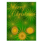 Ornamentos para el diseño del navidad tarjeta postal