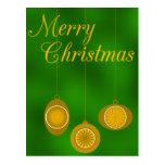 Ornamentos para el diseño del navidad tarjetas postales