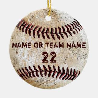 Ornamentos personalizados del béisbol del vintage ornaments para arbol de navidad