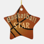 Ornamentos personalizados ESTRELLA del baloncesto Ornato