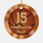 Ornamentos personalizados vintage del baloncesto ornamento para reyes magos
