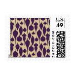 Ornamentos - púrpura y oro sellos