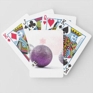 Ornamentos púrpuras de la conciencia del dolor barajas de cartas
