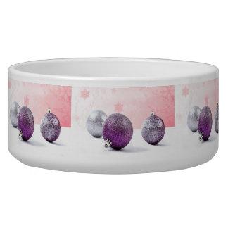 Ornamentos púrpuras de la conciencia del dolor tazon para perro
