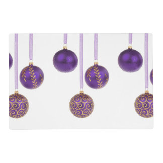 Ornamentos púrpuras del navidad del Winterberry