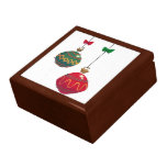 Ornamentos retros del navidad caja de regalo
