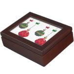 Ornamentos retros del navidad cajas de recuerdos