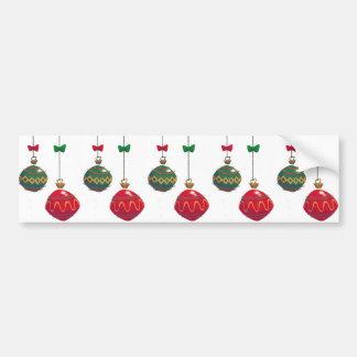 Ornamentos retros del navidad etiqueta de parachoque