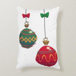 Ornamentos retros del navidad cojín decorativo