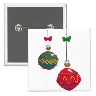 Ornamentos retros del navidad pin