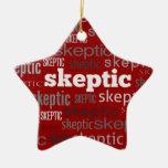 Ornamentos rojos del árbol de Navidad/del solstici Ornamento De Navidad