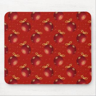 Ornamentos rojos festivos del oro tapetes de ratones