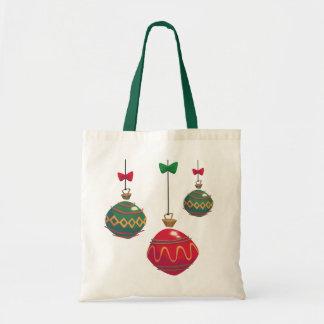 Ornamentos rojos y verdes retros del navidad