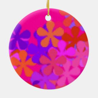 Ornamentos rosados bonitos del >Round de la Adorno Navideño Redondo De Cerámica