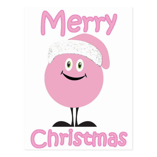 Ornamentos rosados felices que le desean Felices N Tarjetas Postales