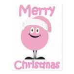 Ornamentos rosados felices que le desean Felices Postal