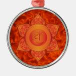 Ornamentos sacros de Chakra Adorno Navideño Redondo De Metal