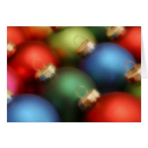 Ornamentos silenciados - tarjeta de Navidad