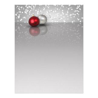Ornamentos trémulos del navidad - efectos de membrete personalizado