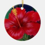 Ornamentos tropicales del hibisco del paraíso ornamento de reyes magos