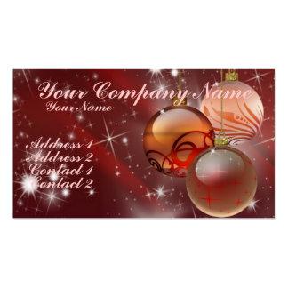 Ornamentos y estrellas plantilla de tarjeta de visita