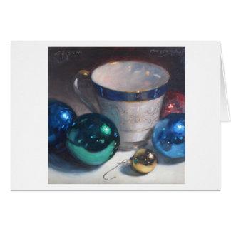 """""""Ornamentos y taza de té """" Tarjeta De Felicitación"""