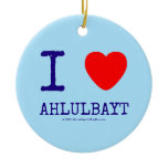 i [Love heart]  ahlulbayt i [Love heart]  ahlulbayt Ornaments