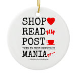 shop [Love heart]  read [Feet]  post [Cup]  this is chic boutique mania [Electric guitar]   shop [Love heart]  read [Feet]  post [Cup]  this is chic boutique mania [Electric guitar]   Ornaments