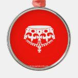 [Crown upside down]  Ornaments