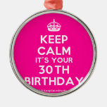 [Crown] keep calm it's your 30th birthday  Ornaments