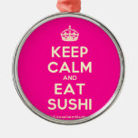 [Crown] keep calm and eat sushi  Ornaments