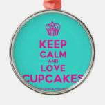 [Cupcake] keep calm and love cupcakes  Ornaments