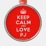 [Crown] keep calm and love pj  Ornaments