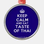 [Crown] keep calm and eat taste of thai  Ornaments