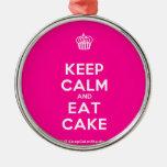 [Cupcake] keep calm and eat cake  Ornaments