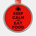 [Cutlery and plate] keep calm and eat food  Ornaments