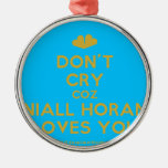 [Two hearts] don't cry coz niall horan loves you  Ornaments