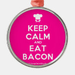 [Chef hat] keep calm and eat bacon  Ornaments