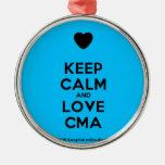 [Love heart] keep calm and love cma  Ornaments