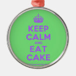 [Crown] keep calm and eat cake  Ornaments