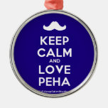 [Moustache] keep calm and love peha  Ornaments