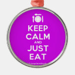 [Cutlery and plate] keep calm and just eat  Ornaments